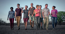 The research team in Namibia | Photo: Olwen Evans