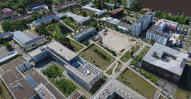 Point cloud image of the Golm Campus | Photo: Prof. Dr. Bodo Bookhagen