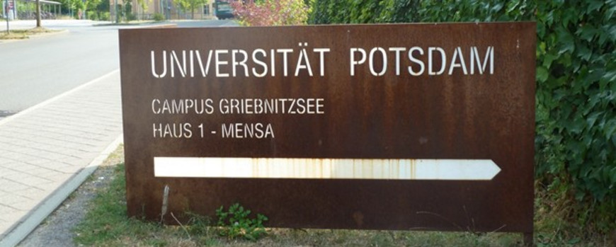 Sign at Campus Griebnitzsee