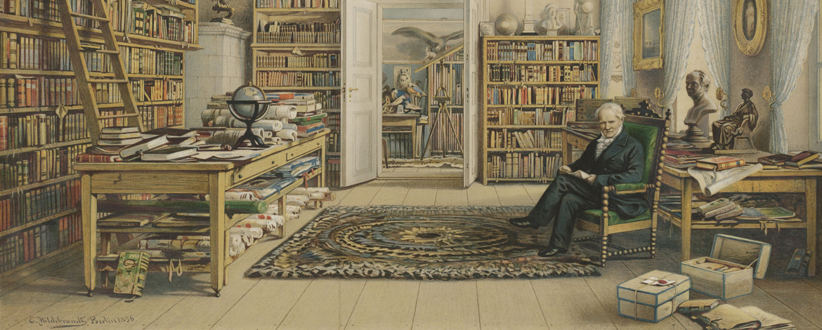 Alexander von Humboldt in his library