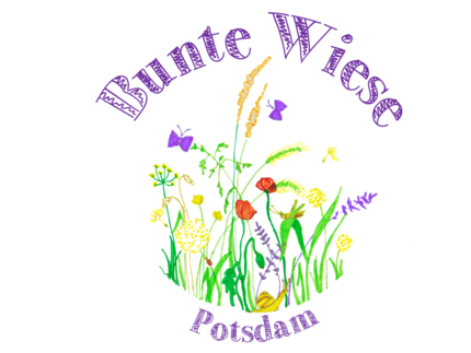 Logo of Bunte Wiese (different flowers and butterflies)