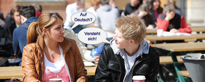 Image: Students learning German