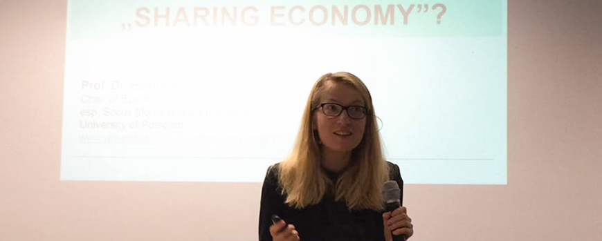 Hanna talking about the sharing economy