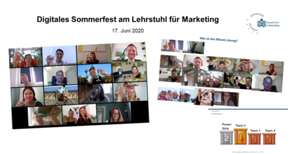 Digitales Sommerfest am Lehrstuhl für Marketing