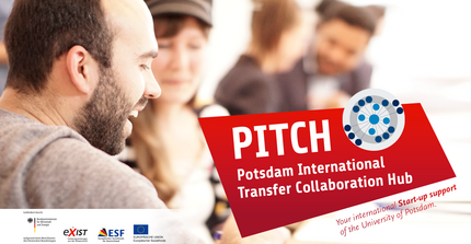 PITCH teaser with a group of young people sitting and brainstorming arround table