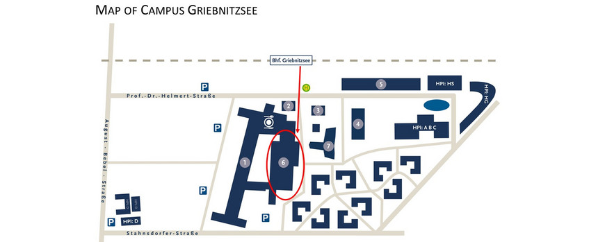 Map of Campus Griebnitzsee