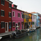 Colorful building facades in Burano