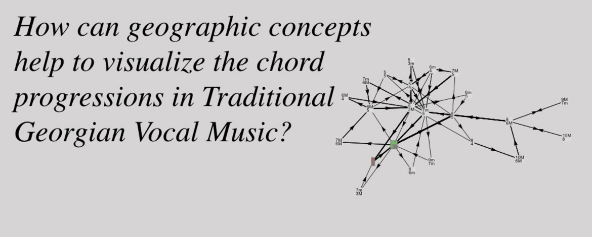 How can geographic concepts help to visualize the chord progressions in Traditional Georgian Vocal Music?