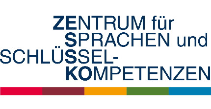 "Logo of Center for Languages and Key Competences (Writing in German: ""Zentrum für Sprachen und Schlüsselkompetenzen"")"