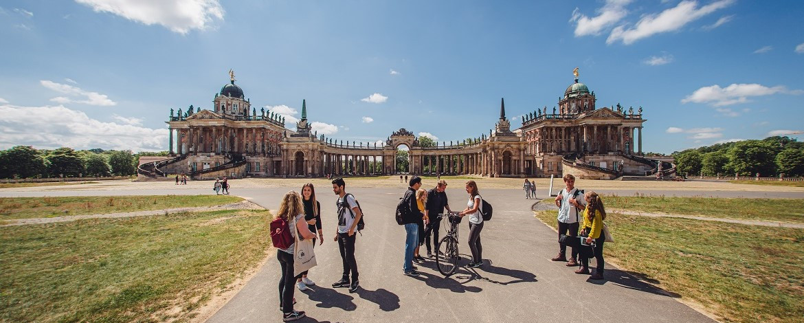Students on Campus of the University of Potsdam