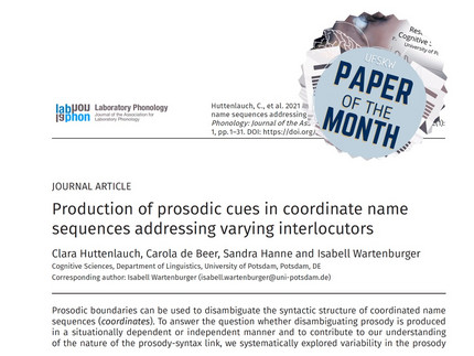 Paper of the Month March 2021