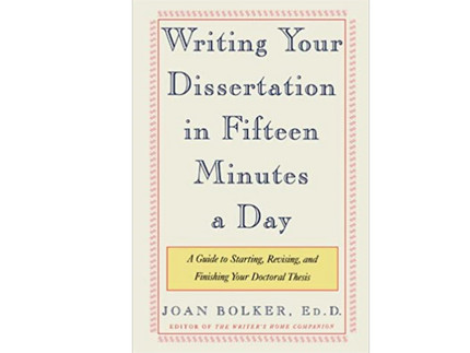 "Titelseite des Buches ""Writing Your Dissertation in 15 Minutes a Day"""