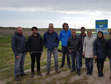 Participants at Salt farm Texel.