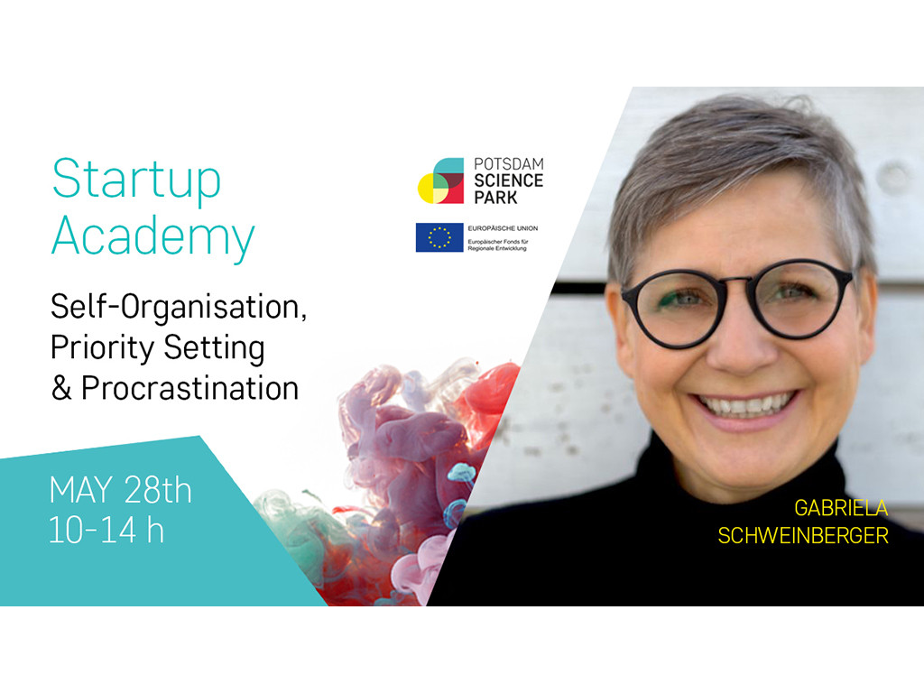 Startup Academy for scientists from non-university research institutes: Self-organization, Priority Setting & Procrastination
