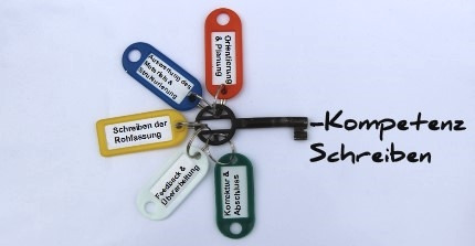 "Keys with logo ""Writing Competence"""
