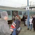 Dedication of train connection to Golm, 1995