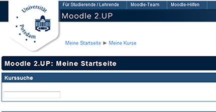 Moodle Uni Potsdam