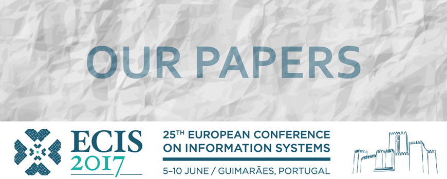 Ecis 2017 Logo and wrinkled papers