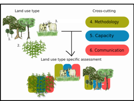 Land-use types studied in SALLnet